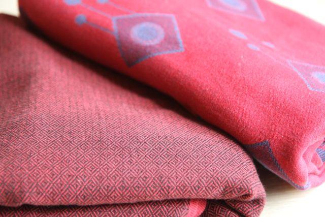 Storchenwiege Leo Bordeaux oraz Didymos  Romby 100% bawełna