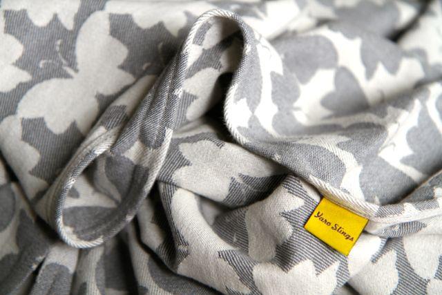 Yaro Slings Motyle szare 100% bawełna