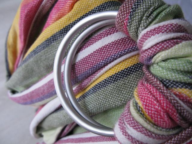 Girasol jesienna polka ecru 100% bawełna chusta kółkowa